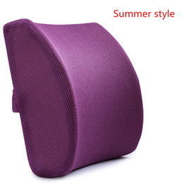 Wholesale Mesh Back Support Seat - Memory Foam 3d Ventilative Mesh Lumbar Support Cushion  Back Cushion   Helps the Lumbar and Sacral Region of the Spinal Column While You Sit