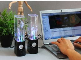 Wholesale Computer Sound Effect - Water Dancing Music Speaker With Amazing Sound Effect Mini LED Speaker USB Speakers for Cell phones Computer etc PAb