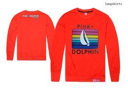 Wholesale Pink Dolphin Sweatshirts - new pinkdolphin hip hop crewneck sweatshirt brand men fashion citi trends clothes plus size sweat suit pink dolphin sweatshirt