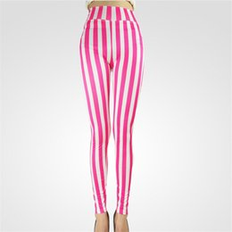 Wholesale Zebra Leggings Hot - hot high quality 2017 Women's nine style Spandex Zebra Print Fashion Sexy Leggings Vertical Stripe Pants For Women