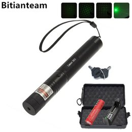 Wholesale Green Laser Focus - Professional Powerful 303 Green Laser Pointer Pen Laser Light With 18650 Battery,Retail Box Focus Burning Wood Matchs