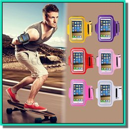 Wholesale Neoprene Mobile Phone Pouches - .For Iphone 6 Waterproof Sports Running Armband Case Workout Armband Holder Pounch For iphone Cell Mobile Phone Arm Bag Band