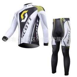 Wholesale Scott Clothing Cycling Jersey Winter - Cheap Scott men cycling Jersey sets in winter autumn with long sleeve bike jacket & (bib) pants in cycling clothing, bicycle wear