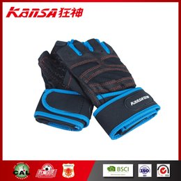 Wholesale Gloves Prices - Kansa-0927 Mens Fitness Half Finger Outdoor Cycling Gloves Half Finger Bicycle Gloves Spring&Summer Non-Slip Breathable Wholesale price