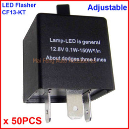 Wholesale Car Relays Signal - 50PCS CF13-KT LED Flasher Adjustable Color 3 Pin Electronic Relay Module Fix Car LED SMD Turn Signal Error Flashing Blinker 12V 0.02A TO 20A