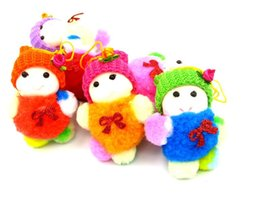 Wholesale little trees wholesale - 8*6cm Colorful doll Christmas snowman The Christmas tree to hang Christmas decorations gifts Christmas dolls little size CS016