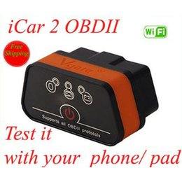 Wholesale Car Seats Low Prices - 6 Pcs Low Price Vgate iCar WIFI ELM327 OBD Multiscan ELM327 For Android PC interface for iPhone iPad Car Diagnostic