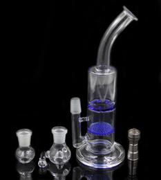 Due funzioni 11 pollici miele pettine e tornado perk vetro acqua tubo bong vetro con Domeless Titanium nail glass bowl oil rig cheap titanium comb da pettine in titanio fornitori