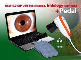 Wholesale Iriscope Analyzer - 5.0 MP USB Pedal Iriscope Iris Analyzer Iridology camera Iris Diagnosis System 990U & Iris Software
