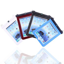 Wholesale Wholesale Holders For Bags - Waterproof Bag Case Holder Pouch PVC 10 Meters Underwater Diving Bag with Hook Neck Strap Compass For iPad 2 iPad 3 For Tablet