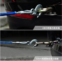 Wholesale Heavy Towing Hooks - Wholesale-Tow Rope Traction Rope Heavy Duty Steel Hooks Emergency Tow Rope For Car Van Truck Camping