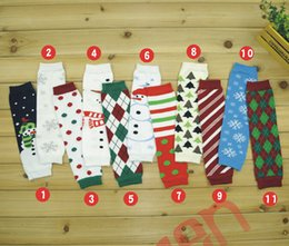 Wholesale Arm Warmers Cotton - Christmas Legging Warmer cotton socks Warmer Socks adult arm warmers 11 colors infant colorful Santa leg