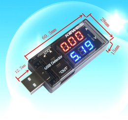 Wholesale Voltmeter Digital - Universal USB Current Voltage Tester USB Voltmeter Ammeter Detector Double Row Shows New
