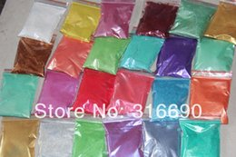 Wholesale Nail Art Pigments - Wholesale-Cosmic 24colors Shimmer Mica Pigment Powder - Subtle Shades - for Polymer Clay, Paper Crafts, Resin, Nail Art etc