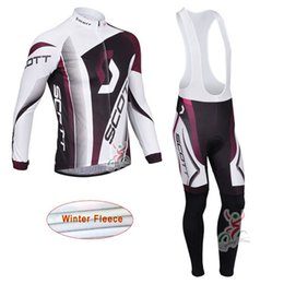 Wholesale scott long sleeve bike - SCOTT Long sleeve Men winter thermal fleece Cycling Jersey Ropa Ciclismo Maillot Hombre Bike Sports Cycling Clothing Sportwear K1503