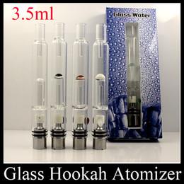 Wholesale Ego Atomizer Pyrex - 2015 Pyrex Glass Water Atomizer Hookah Pen Smoking Pipes E Cig Tank Dry Herb Wax Vaporizer Glass Atomizer For EGO Evod Battery ATB031