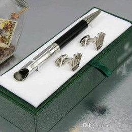 Wholesale Office Supplies Pens - Luxury High quality Unique design rx pen stationery supplies Ballpoint Pen , cufflink , gift green box sets