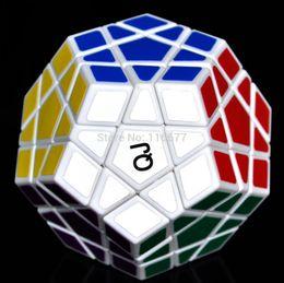 Wholesale Qj Megaminx - Wholesale-Rare QJ 12 surfaces speed magic cube megaminx Polygonal Puzzle twist #36 White edge