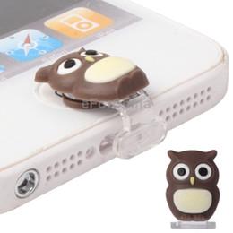 Wholesale Dustproof Plug Owl - Wholesale-Mini Owl Style Dustproof Plug Cap Sticker for iPhone 5   iPad Mini   iPod Touch 5