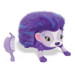 Wholesale Interactive Pet Toys For Kids - Interactive Pet Hedgehog with Multi-modes Lights Sounds Sensors Light-up Eyes Wiggy Nose Walk Roll Headstand Curl up Giggle Toys for Kids