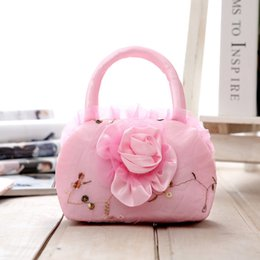 Wholesale Casual Canvas Hand Bags - Trendy Applique Laces Hand Bags For Female High Quality Women's Floral Embroidery Handbags Wedding Totes Bag Wholesale