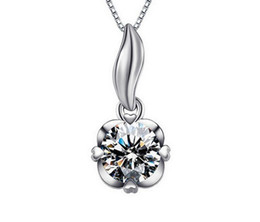 Wholesale fairy tail jewelry - Handmade diamond necklace female fairy tail 925 sterling silver heart pendant-sterling silver jewelry