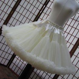 Wholesale Pettiskirts Purple - Plus Size Petticoats Double Layer Pettiskirts Bridesmaid Girls Crinoline Petticoats Bridal Over Skirt Colorful Underskirt Crinoline Slip