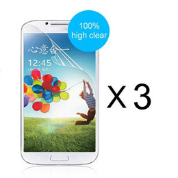 Wholesale Galaxy S4 Protector - Wholesale-High definition screen protector film for Samsung Galaxy S6 S5 mini S4 mini S3 mini note 4 note 3 note 5 edge 3pcs a lot