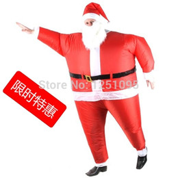 Wholesale Christmas Inflatable Santa Claus - Wholesale-Special Christmas cosplay creative costumes Adult inflatable Santa Claus walking performance clothing free shipping