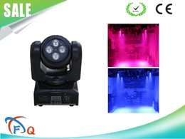 Wholesale Moving Faces - free shipping dmx sound mp3 Romantic Holiday light 10w rgbw full color Doubel face two head Mini Moving Head beam wash Light