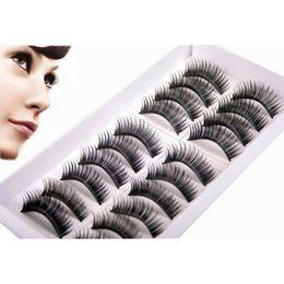 Wholesale Supply Extension - Wholesale- Very Beautiful Eyelashes 10 Pairs Lot Winged Beauty Supplies Eyelashes Extension Lashes Individual False Eyelashes Fake Eyelash