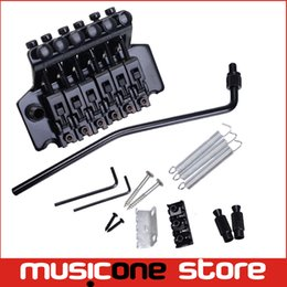 Pont de guitare floyd rose en Ligne-A Set Black Floyd Rose Guitare électrique Tremolo Bridge Double Locking Systyem Livraison gratuite MU0471