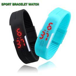 Wholesale Jelly Touch Wrist Watch - 2015 NEW waterproof The keys Touch square dial Digital Jelly Silicone Bracelet LED Sports Wrist Watch fashion Women Men Watch