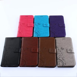 Wholesale Case Cover For Iphone5 Wallet - For iphone5 Samsung Galaxy Core Prime G360 G530 S3mini s4mini Pure Flower Butterfly skin Flip Stand holder card Wallet leather case cover