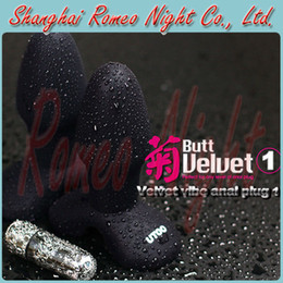 Wholesale Wireless Vibrating Butt Plugs - UTOO Velvet Vibe Anal Plug NO.1, 10-Speed Vibrating & 100% Waterproof Wireless Butt Plug, Anal Sexy Toys, Adult Products