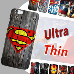 Wholesale Superman Case For Iphone - Ultra Thin Marvel Avengers Superman Soft TPU Cartoon Spiderman Ironman Captain American Shield Case Cover For iPhone 8 7 Plus 6 6S SE 5S 5
