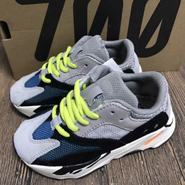 Wholesale Kids Runners - Kids shoes Kanye West Wave Runner BOOTS 700 Running Shoes Children 700 Sports Sneakers Casual With Box