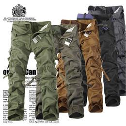 Pantalones tácticos holgados de los hombres del trabajador Pantalones del trabajador muchos bolsillos Pantalones militares del trabajo de Camo del cargo Pantalones de trabajo desde fabricantes