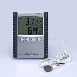 Wholesale Thermometer Hygrometer Humidity - Digital Thermometer Hygrometer Temperature & Humidity Meter for indoor & outdoor LCD display HC520 in retail package 50pcs lot