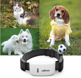 Wholesale via gps - 2016 Mini Pet GPS Tracker Waterproof For Dog Cat Control Real Time Positioning Tracking via iOS & Android App 4 colors TKStar
