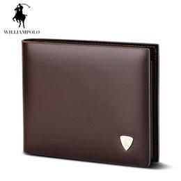 Wholesale Bag Mens Cowhide - 2017 Fashion Slim Men Wallet 100% Genuine Cow Leather Men Purses High Quality Mens Brown Coin Pocket Clutch Bag For Mens Gift