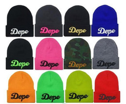 Wholesale 3d Letter Wholesalers - 3D Pattern Hiphop Beanies For Women Girl Unisex Dance Street Hats Wool Knitting Skull Caps Hat