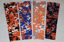 Wholesale Blue Digital Camo - 100pcs Compression Sports Arm Sleeve Digital Camo Baseball Football Wicking sleeves