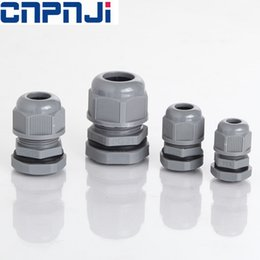 Wholesale Nylon Locking Nuts - PG7, Nylon, Straight, IP68, Gray waterproof pg7 pg9 Nylon cable gland with lock nut cord grips