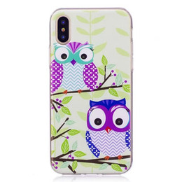 Wholesale iphone case life - Fashion Cartoon Soft TPU Case For Galaxy S8 Plus S7 Edge Silicone Owl My Life Cat Cute Lovely Night Bird Colorful Clear Back Cover Skin 2017