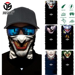 Wholesale Tube Magic - Wholesale- 3D Seamless Multifunction Magic Tube Clown Joker Men Skull Ghost Shield Face Mask Headband Bandana Headwear Ring Head Scarf