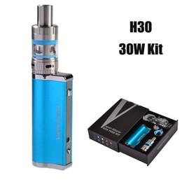 Wholesale Smoking Vaporizer Cigarette - Free Shipping Vape Storm Ego VV VW 8.5v 30W 2200mah H30 E Cigarette Smoke Box Mod with EC Subtank Vaporizer Kit VS Istick 30W