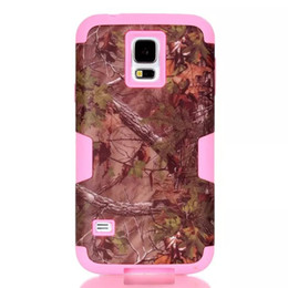Wholesale Galaxy Realtree - For Samsung Galaxy S6 Edge G9250 S5 I9600 3 in 1 Straw Realtree Grass Mossy Camo Branch Forest Hybrid Hard Silicone Rubber Gel Case cover