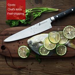 Wholesale Knife Sushi Steel - Gyuto Chef's knife Western Sashimi Sushi Knives fruit knife Multi-func Germany imports 1.4116 steel
