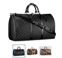 Wholesale Vintage Duffle Bags - AAA Top quality Men Travel Bag Women Duffle Bags Luggage cowhide oxidize leather vintage keep ALL 55cm Handbags with lock and key